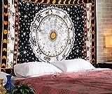 Zodiacali Oroscopo Arazzo, indiana astrologia Hippie attaccatura di parete, Divina Etnica decorativo regalo Arte, Sole Luna celtica zodiacale Tapestry