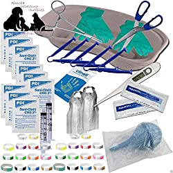 Abnobas Complete Puppy Whelping Kit Aspirator Forceps Small Reusable Cord Clamps Free Welping Guide Docs (173)