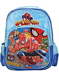 Belomoda Emboss Spider-Man Printed Nylon Nylon 18 Ltrs Blue School Bag