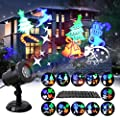 GAXmi Halloween Projector LED Light Rotating Landscape Pattern Spotlight Remote Control 12 Switchable Pattern Waterproof Decoration Light for Christmas Thanksgiving Valentine's Day Birthday Party
