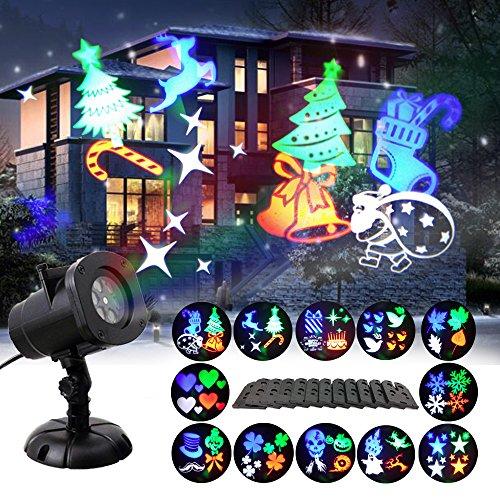 eihnachtsbeleuchtung Aussen Taschenlampe Scheinwerfer 12 Schaltbares Nachtlicht Weihnachtsdeko für Halloween Valentinstag Geburtstag Party (A) (Halloween-scheinwerfer)