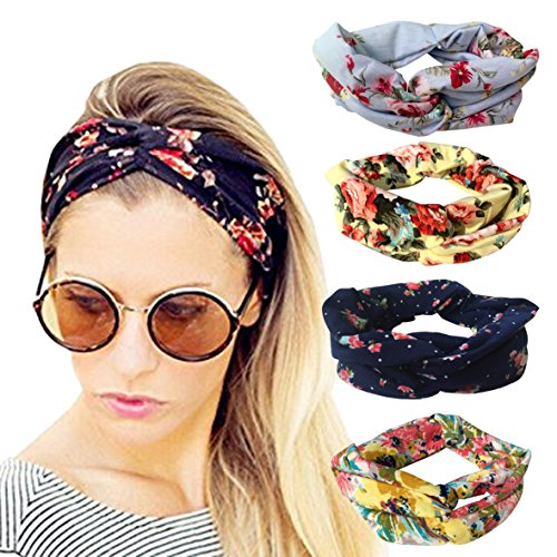 dreshow-4-pack-women-stretchy-flower-printed-vintage-headband-fashion-head-scarf-for-sports-exercise