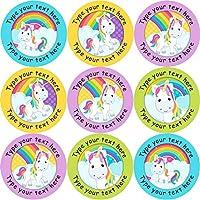 144 Personalised Rainbow Unicorns 30mm Reward Stickers ideal for School Teachers