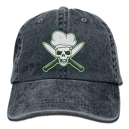 Herren Damen Baseball Caps,Hüte, Mützen, Skull Chef Green Denim Hat Adjustable Men Stretch Baseball Hats -