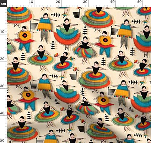Ballett, Bauhaus, Berlin, Deutschland, Kostüm Stoffe - Individuell Bedruckt von Spoonflower - Design von Leventetladiscorde Gedruckt auf Bio Musselin