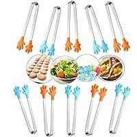SoundZero 10Pcs Pince de Buffet avec Silicone, Mini Pinces de Cuisine Multifonctions en Silicone et Acier Inoxydable…