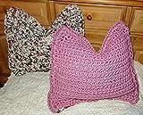 Kissenhülle/gehäkelt/Kissen/Häkelkissenhülle/Kissenbezug/Zierkissenbezug/selbstgehäkelt aus Textilgarn/Cushion cover/even crocheted/2 Stück/