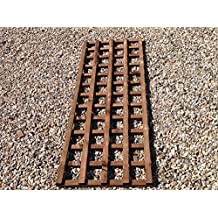 Heavy duty made garden trellis treated in dark brown preserver PAY DELIVERY ONCE (6ftx2ft, Brown)