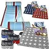 XXL Picknickdecke von JEMIDI Riesen 200cm x 200cm (4m²) oder 200cm x 180cm Campingdecke Schwimmbaddecke Strand Reise Decke Matte Strandmatte Campingmatte XL Stranddecke