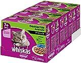 Whiskas Katzen-/Nassfutter Multipack Senior 7+ für ältere Katzen Gemischte Auswahl in Sauce, 48 Portionsbeutel (4 x 12 x 100 g)