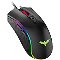 havit Mouse Gaming 7 Pulsanti Mouse da Gioco programmabile Illuminazione RGB [800-1600-2400-4800] per Windows 7/8/10…