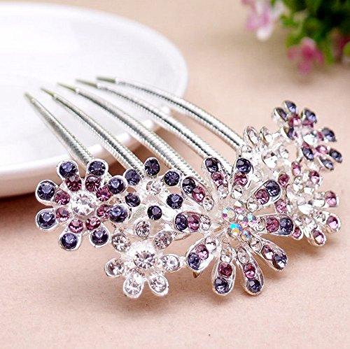 meta-u-beautiful-rhinestones-decorative-hair-combs-flower-purple