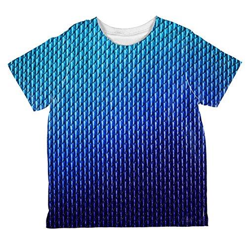 Halloween Blue Ice Dragon skaliert Kostüm aller Kleinkind T Shirt Multi 4 t (Blue Dragon Baby Kostüm)