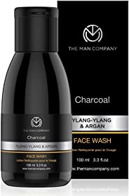 The Man Company Activated Charcoal Face wash - 100ml (Ylang Ylang & Argan Essential Oils)