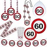 Cinta de contención 60 cumpleaños señal de tráfico Banner fie