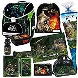 Dinosaurier Dino 11 Teile SET SCHULRANZEN RANZEN TASCHE TORNISTER SCHULTÜTE 85 cm Federmappe mit Sticker von Kids4shop
