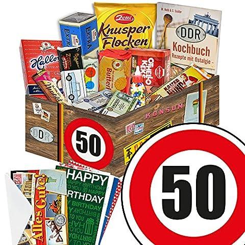 50 Geburtstag Geschenk DDR - Süssigkeiten Box mit DDR Waren + Geschenkverpackung