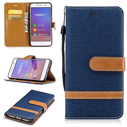 Ooboom® iPhone X Coque Élégant PU Cuir Flip Housse Étui Cover Case Wallet Portefeuille Pochette Supporter Fonction pour iPhone X - Violet Bleu Marine