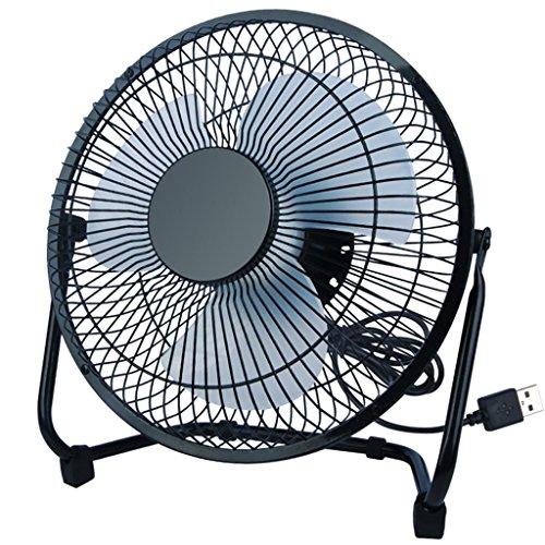 DZW Scrivania-ventola/ventola per collegare cioè con il PC | ventilatore/ventilatore di scrivania | PC/notebook | diametro del ventilatore: 24cm/8 pollici | neroMolto silenzioso nessun ventilatore a foglia