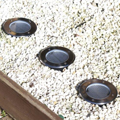 frostfire gro e solarleuchte f r terrasse pfad und garten 12 cm breit. Black Bedroom Furniture Sets. Home Design Ideas