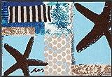Salonloewe Fußmatte blau Größe 50x75 cm