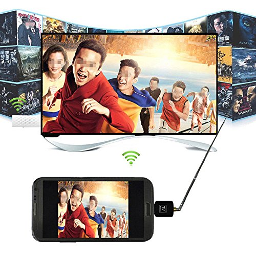 Price comparison product image Fone Case TV Mobile Micro USB Portable Mini Digital Television Tuner HDTV DVB-T Receiver For Linx 10 Inch