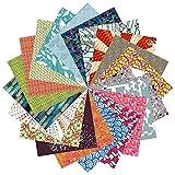 Ensemble Cadeau Papier Origami | 200 Feuilles, Carré de 15cm | Designer à Motifs...