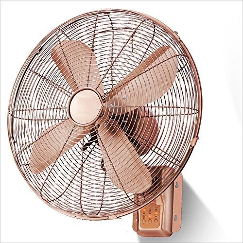 Fan Nan Retro-Wand Heimgebrauch-Fernsteuerungsmaschinerie-Wand-Ventilator-Hängender 16 Zoll-europäischer Wand-Ventilator, der Kopf europäisches Retro- 100W schüttelt Kühle Brise