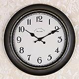 OLILEIOContinental Retro moderne, minimalistische kreative Persönlichkeit Mute Armbanduhr Quarzuhr amerikanische Schlafzimmer Wohnzimmer Uhr Second Hand (14 Zoll, 16 Zoll) ,16 Zoll, 07 Kurzwahleinträge