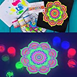 Nevskaya Palitra Fluoreszierende Farbe | 6 x 20 ml Näpfchen | Acryl Neon-Farben Set mit Glow-Effekt unter Schwarzlicht (UV-Licht) für Nevskaya Palitra Fluoreszierende Farbe | 6 x 20 ml Näpfchen | Acryl Neon-Farben Set mit Glow-Effekt unter Schwarzlicht (UV-Licht)