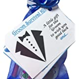 Bagsoflove Gifts Groom Survival Kit - Keepsake Bride To Groom Wedding Day Gift or Just Because
