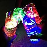 Miyare 4pcs Colorido Taza de la Copa Intermitente LED Copa Brillante Taza de Cerveza de alto Brillo Luz Fiesta del Partido de la Copa con Cuchara