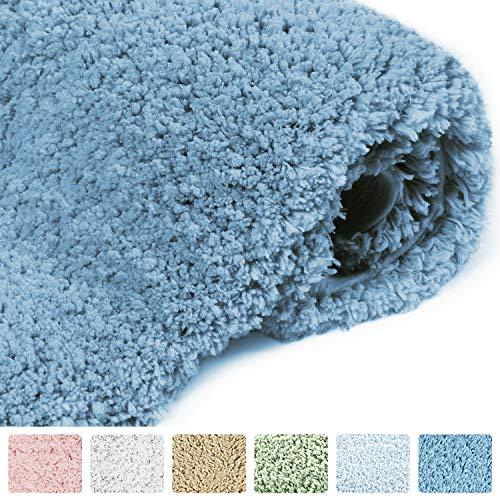 Norcho Alfombra de Baño Microfibra Suave Lujosa Caucho Antideslizante Lujosa Alfombra de ducha