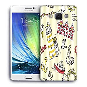 Snoogg Yellow Beach Side Designer Protective Phone Back Case Cover For Samsung Galaxy ON5