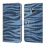 Head Case Designs Zebra Gedruckter Denim Brieftasche