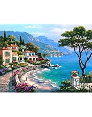 SKUDGEAR Unframed DIY Oil Painting - Paint by Numbers for Kids and Adults Beginners 40cm * 50cm (Mediterranean)