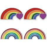 4 pz spilla unisex arcobaleno smalto pin per vestiti borse zaini regalo