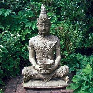 61phiXP9G4L. SS300  - Peaceful Stone Buddha Statue - Large Garden Sculptures