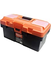 Harden Professional Reinforced Plastic Moulding Tool Box with Transparent Accessories Storage Box and Isolation Tray (35.5 X 18 X 18.5 cm) - 520301B