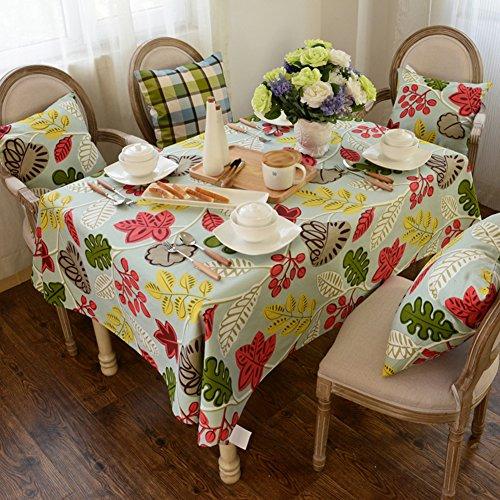 Maoge Amerikanische pastoral/der Print tischdecken/lace nähen/Tee tischdecke.lÄndlichen/Simple/sauber/längliche tischdecke.-E 140x180cm(55x71inch) -
