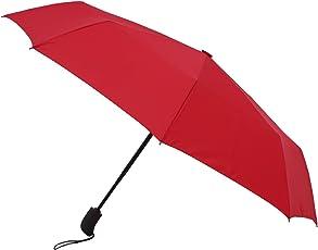 Amazon Brand - Solimo Automatic Travel Umbrella - Red