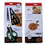 from Xin Hua 11 inch Stainless Steel Pizza Scissors by Xin Hua, Replace Your Pizza Cutter, Sharp Scissors Let You Easily Taste Serves Hot Pizza--Green