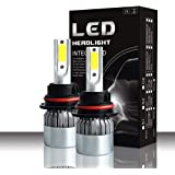LED-Scheinwerfer-Leuchtmittel, 3800 lm, Hi/Lo Beam 880/9004/9007 36 W, 6000 K, wasserdicht, mit superhellen COB-Chips, 2 Stück 9004/9007/Hb1