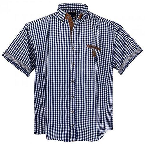 Lavecchia Übergrössen !!! Schickes Kurzam-Hemd LAVECCHIA 1129 in Blau/Weiß 3XL