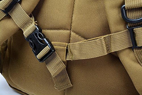 D-BAG 30L Militärarmee Patrol MOLLE Tactical Assault Pack Wochenend Rucksack Erwachsene Taktischer Trekkingrucksacke Rucksack Outdoor Wanderrucksäcke Khaki