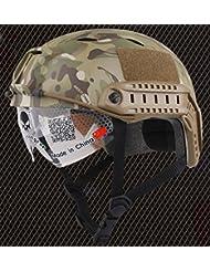 Ejército estilo militar SWAT combate Base Jump Bj tipo Casco Fast Multicam MC para Tactical Airsoft Paintball