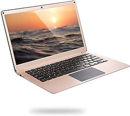 """Yepo 737A Ultrabook 13.3"""" 1920*1080, Laptop con Windows10 Quad Core Intel Celeron N3450 6GB+64GB, Batteria Lunga Durata, Supporto di Dual WIFI BT 4.0 HDMI e TF Scheda fino a 128GB 0.3MP Camera, Oro"""