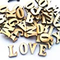 Leisial 100 pcs Wooden Capital Scrabble Tiles Alphabet Letter Numbers for Crafts Jewellery Making Arts DIY Decoration Displays : everything 5 pounds (or less!)