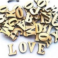 Leisial 100 Piezas de Madera Capital Scrabble Azulejos Alfabeto Letras Números para Manualidades Joyas Hacer Artes DIY Decoración Pantallas, Madera, Madera, 1.5cm
