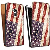 HTC One max Tasche Hülle Flip Case United States of America Amerika USA Flagge
